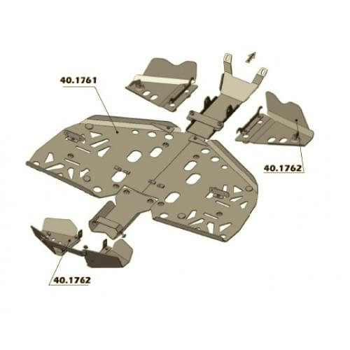 Комплект защиты днища для Renegade 800 (Рама G1) 2007-2011